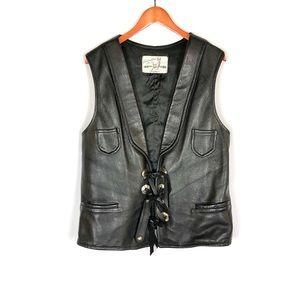 Vintage Custom Coat Co men's deerskin leather vest